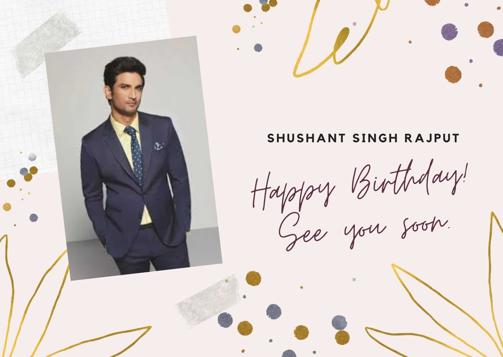 Shushant singh rajput birthday